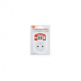 Chargeur Mural 2 Ports Usb + P