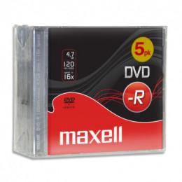 Pack de 5 DVD-R Maxell 120 mn 4,7 Go 16x